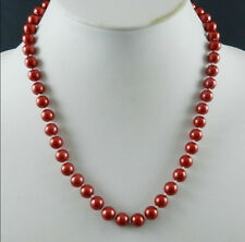 "8mm Red South Sea Shell Pearl Necklace 18"" AAA+"