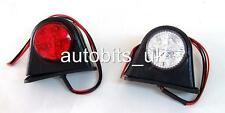 2 X LED SMD MINI SIDE RUBBER MARKER LIGHTS LAMP TRAILER TRUCK VAN 12V OUTLINE