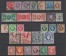 Great Britain Sc 211//251A used 1934-1942 issues, 28 diff KGVI singles, F-VF