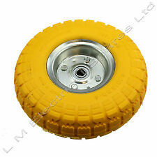"Garden Wheelbarrow Wheel Tyre & Axle Wheel Bearing Solid 10"" 25cm Rubber Wheel"