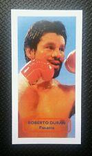 Boxeo-Panamá-Roberto Duran-score Premio luchadores UK Trade card