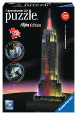 Empire State Building At Night 3d Rompecabezas 216 Piezas Ravensburger 12 Años +
