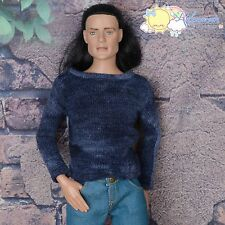 "Doll Clothes Round Neck Long Sleeves Ocean Sweater Top for 17"" Tonner Male Matt"