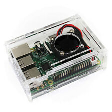 Raspberry Pi 3 Model B Board +Clear Case+ Mini  Fan Kits For DIY Projects
