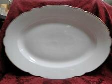 M. Redon PL Limoges, White, Rim Shape, Thick Gold Trim: Serving Platter, 17 5/8""