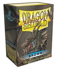 100 PROTECTIVE SLEEVES Brown Marrone MTG MAGIC Dragon Shield