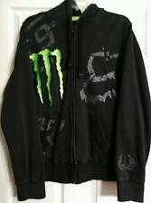FOX 4 racing MONSTER ENERGY mens black hoodie sweatshirt. Ricky Carmichael.  L.