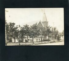 RPPC Swedish Lutheran Church Centuria WISCONSIN Polk County photo postcard