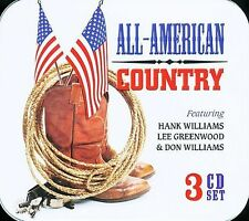 CD All American Country Hank Williams Lee Greenwood Don Williams 3 Disc TIN NEW