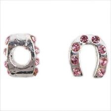 10x 151133 Rhinestone Horseshoe Alloy Beads Fit Charm Bracelets
