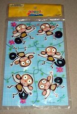 Lot of 36 Pieces - Party Like Crazy 3-D Monkey Stickers with Fuzzy Tails
