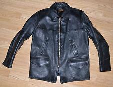 Vtg Horsehide Half Belt Style Jacket