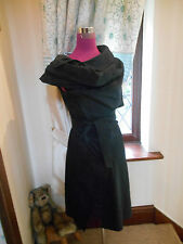 Amazing All Saints Amka Trench Dress Black Size 6 Excellent Condition