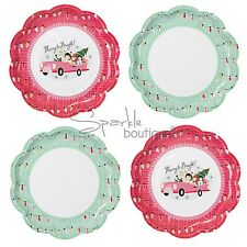 CHRISTMAS PAPER PLATES -Retro 1950's Style Xmas Party/Buffet- FULL RANGE IN SHOP