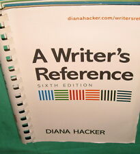 A Writer's Reference Sixth Edition Diana Hacker 2006 Paperback Comb Bound