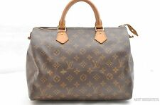 Authentic Louis Vuitton Monogram Speedy 30 Hand Bag M41526 LV 25927