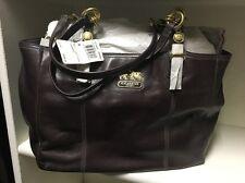 Brand New NWT Coach Mia Mahogany Leather Handbag Purse