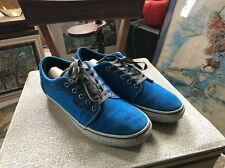 VANS Chukka Low Suede Blue Skate Shoes Used 11