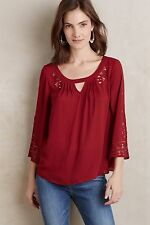 NWT Anthropologie Teni Blouse by Maeve 14 Laser cut Beautiful Feminine Top Shirt