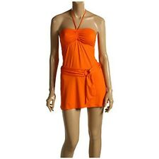 NWT JUICY COUTURE orange candy bar swimsuit cover up M L designer bright HOT