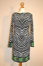 DESIGNER MICHAEL KORS ELEGANT BLACK & WHITE JERSEY TUNIC DRESS BNWT UK 8-10