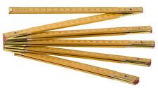 Double-mètre pliant en bois 10 segments double mètre de maçon jaune règle 2M
