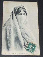 CPA CARTE POSTALE 1909 ALGERIE COLONIES FRANCE AFRIQUE MAURESQUE VOILEE