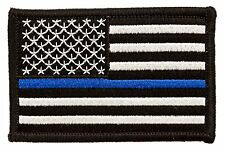 "Tactical Police law enforcement Thin Blue Line US Flag Patch 3""x2"""