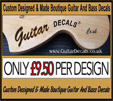 Guitar Neck Waterslide Headstock Decals - Headstock decal -  2 decals for £9.50