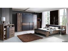 Schlafzimmer Bellevue mit Drehtürenschrank inklusive Beleuchtung Bettanlage 9878