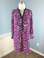 NEW Juicy Couture Pink Purple Floral Shift Dress M $99 Retro Career Cocktail