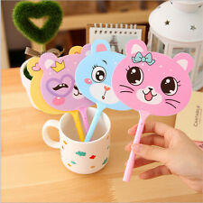 Lot 4pcs Cute Kawaii Fun Ball Point Pens Fan Korean Cartoon Cat novelty Animal