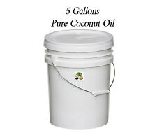 Pure All Natural Coconut Oil  5 Gallon Bucket Pail