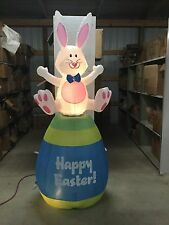 6Ft Gemmy Airblown Inflatable Animated Bunny On Easter Egg Prototype