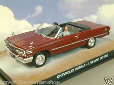 DIECAST 1/43 JAMES BOND 007 1963 CHEVROLET IMPALA OPEN MAROON LIVE AND LET DIE
