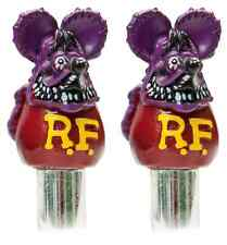 Purple Rat Fink Door Lock Knobs Pair Mooneyes Moon Rod Hot Chevy Ford GM Mopar
