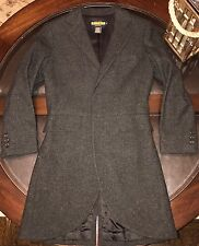 Authentic Ralph Lauren Rugby Womens Coat 100% Lambs Wool Sz 4 Charcoal Grey