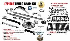 FOR NISSAN NAVARA D40 2.5 2006--  TIMING CHAIN KIT + HEAD GASKET SET & BOLTS