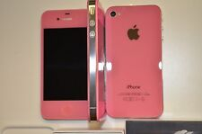 iPhone 4-8GB (Gsm Unlocked) Light Pink Straight talk Metro pcs Cricket Wireless