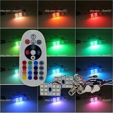 2x 12SMD Panel Interior Light Package Dome Map Kit Remote Controller LED Bulb AU