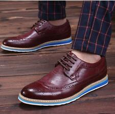 New fashion Mens Oxford brogue wingtip dress formal lace up casual shoes