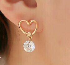 New hot Fashion Popular Luxury Crystal Zircon Stud Heart Earrings