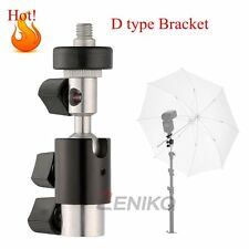 Flash Bracket D Type Umbrella Holder Swivel Light Stand For Hot-shoe Flash Light
