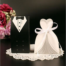 100Pcs/Pack Bride and Groom Wedding Candy Box Paper Wedding Gifts Supplies