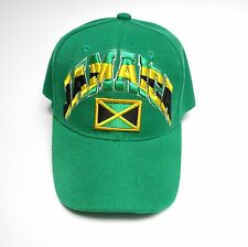 Nonstop Jamaican Baseball Cap Adjustable Green Hat Acrylic