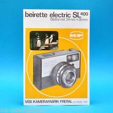 beirette electric SL 400 Kamerafabrik Freital l DDR um 1965 | Prospekt Werbung B