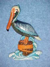 "4"" PELICAN Wall Hanging Decor Tropical Beach Bath Nautical Spa Ocean Birds"