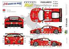 "[FFSMC Productions] Decals 1/18 Ferrari F-430 LMGT2 ""Team RISI"" (LM 2008)"