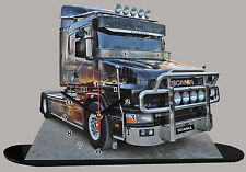 MINIATURE, MODEL CARS, CAMION, TRUCK SCANIA -07 en horloge