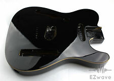Solid Black Finish Ash w. Top Binding Semi Hollow Guitar Body for Thinline Tele
